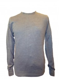 Remus Uomo Crew Neck Merino Blend Sweater In Petrol Blue