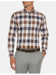 Aquascutum Club Check Flannel Cotton Shirt -
