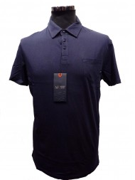 Armani Jeans Short Sleeved Jersey Polo T Shirt In Navy - S:06M06