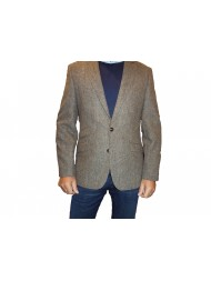 "Douglas ""Cotswold"" Single Breasted Regular Fit Donegal Tweed Jacket - Brown"