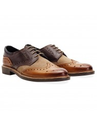 Goodwin Smith Worsthorne Derby Brogue Shoe In Brown Tan & Stone