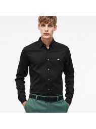 Lacoste Men's Slim Fit Shirt In Black Stretch Cotton Poplin - CH2561 00 31