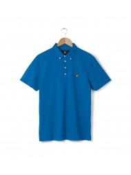 Lyle & Scott Jersey Fabric Polo Shirt In Deep Cobalt Blue - SP402V