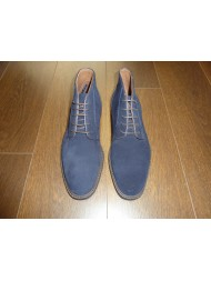 "Paolo Vandini Mens ""Portsmouth"" Mid Boot In Navy Suede"