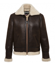 Schott N.Y.C. Leather Flying Jacket In Dark Brown - LC1259X