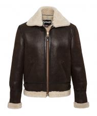 Schott N.Y.C. Leather Flying Jacket In Dark Brown - LC1259X
