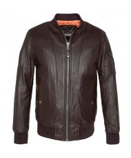 Schott N.Y.C. Brown Leather Jacket - LC6304X