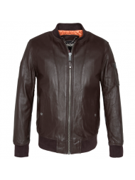 Schott N.Y.C. Brown Leather Jacket - LC6304X