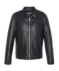 Schott N.Y.C. Black Leather Racer Jacket - LC949D