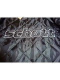 Schott N.Y.C. Black Leather Racer Jacket - LC949D