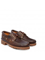 Timberland  Men's Heritage 3-Eye Classic Boat Shoe In Brown - 30003