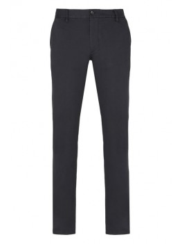 Armani Jeans Cotton Gabardine Chinos In Navy - S:3YP15