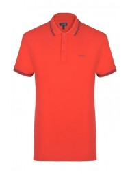 Armani Jeans Cotton Pique Polo Shirt In Red - 8N6FB2 6JPTZ