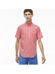 Lacoste slim fit shirt short sleeve shirt in pink - CH3943 00 FMT Sirop