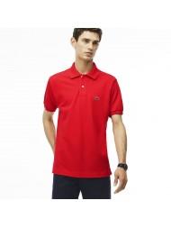 Lacoste Classic Fit Pique Polo In Red - L12.12 ZBG Grenadine