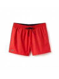 Lacoste swimming trunks in red with navy drawstrings  - MH7092 00 JH5