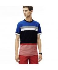 Lacoste Men's Crew Neck Colorblock Honeycomb Jersey T-Shirt - TH1928 00 G09