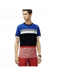 Lacoste Men's Crew Neck Colorblock Honeycomb Jersey T-Shirt - TH1928 00 G09