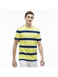 Lacoste Men's Crew Neck Multi Stripe Jersey T-Shirt In Yellow - TH3012 00 YLI