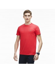 Lacoste regular fit pima cotton crew neck t-shirt in washed red - TH6709 00 JDY