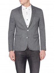 Remus Uomo Single Breasted Grey Slim Fit Wool-Blend Jacket