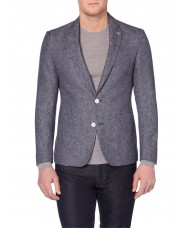 Remus Uomo Single Breasted Slim Fit Linen-Blend Jacket - 10758 28