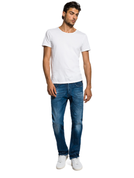 Replay Laserblast Grover Straight-Fit Jeans - Light Stonewash