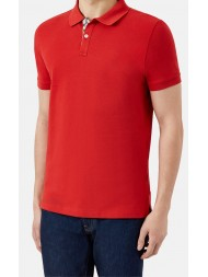"Aquascutum ""Hector"" Pique Polo In Red"