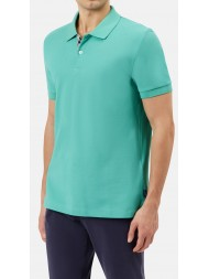 "Aquascutum ""Hector"" Pique Polo In Mint"