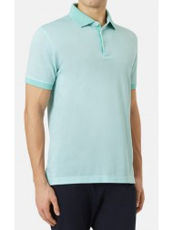 "Aquascutum ""Wallace"" Contrast Pique Polo In Mint"