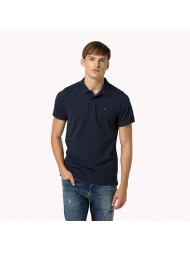 Hilfiger Denim Cotton Pique Polo Shirt In Navy Blue -Style #: DM0DM00488