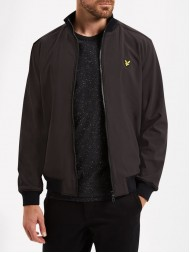 Lyle & Scott Zip Through Soft Shell Jacket In Black - ML604V