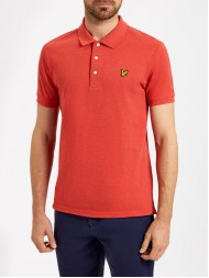 Lyle & Scott Classic Polo Shirt In Flame Red Marl - SP400VM