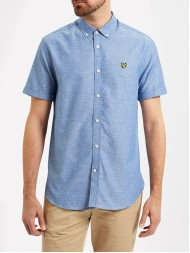 Lyle & Scott Short Sleeve Multi Coloured Running Stitch Shirt - True blue - SW600V