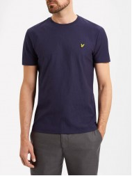Lyle & Scott Rain Jacquard T-Shirt In Navy - TS614V