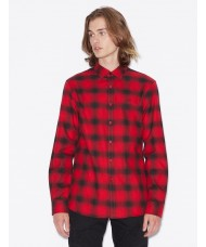 Armani Exchange Black & Red Check Plaid Shirt - 6GZC27-ZNMEZ-5430