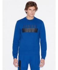 Armani Exchange Sweatshirt In Bright Blue With Big Logo