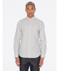 Armani Exchange Cotton - Satin Shirt With Repeat Print - 6GZC24 ZNPGZ C:6130