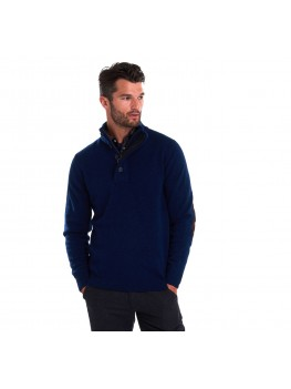 Barbour International Patch Half Zip Jumper In Blue - MKN0585 BL91