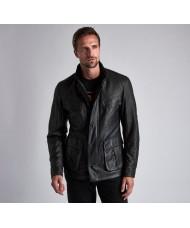 Barbour International Paul Leather Jacket In Black - MLT0080BK11