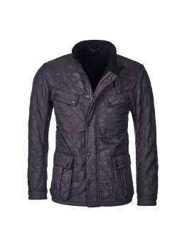 Barbour International Ariel Polarquilt Jacket In Charcoal Grey - MQU0365CH71