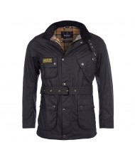 Barbour International Slim Wax Jacket In Black MWX0958BK91
