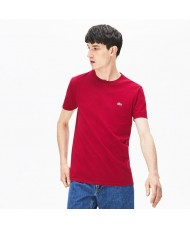 Lacoste Men's Crew Neck Pima Cotton Jersey T-shirt In Wine - TH6709 00 FY5
