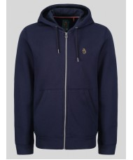 Luke Sport Berlin Zip Through Hoody In Navy Blue - ZM450352