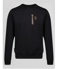 Luke Sport 18 Carat crew neck sweatshirt In Jet Black M490301