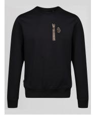 Luke Sport 18 Carat crew neck sweatshirt In Jet Black M490301