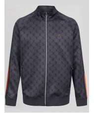 Luke King Kevins Full Zip Hoody In Charcoal Grey - M500350