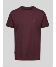 Luke 1977 Master Clarke short sleeve crew neck t-shirt In Burgundy - ZM470101