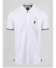 Luke New Mead Polo Shirt In White - ZM451457
