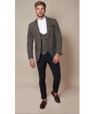 Marc Darcy 'Edward' - Navy Grey Check Blazer